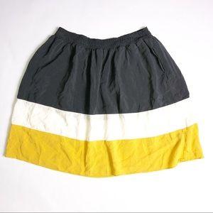 Mossimo Dark Grey, White and Yellow Circle Skirt